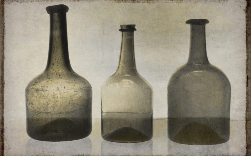 Collecting Vintage Glass Bottle Art